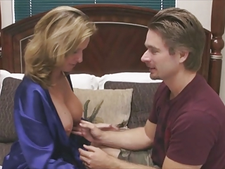 mom teaches not her frustrated son how to pleasure a girl