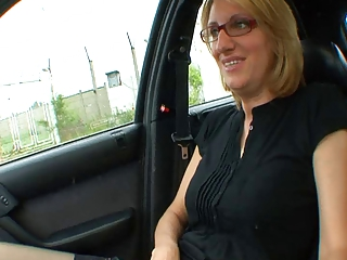 Nice french mature slut plays with cock
